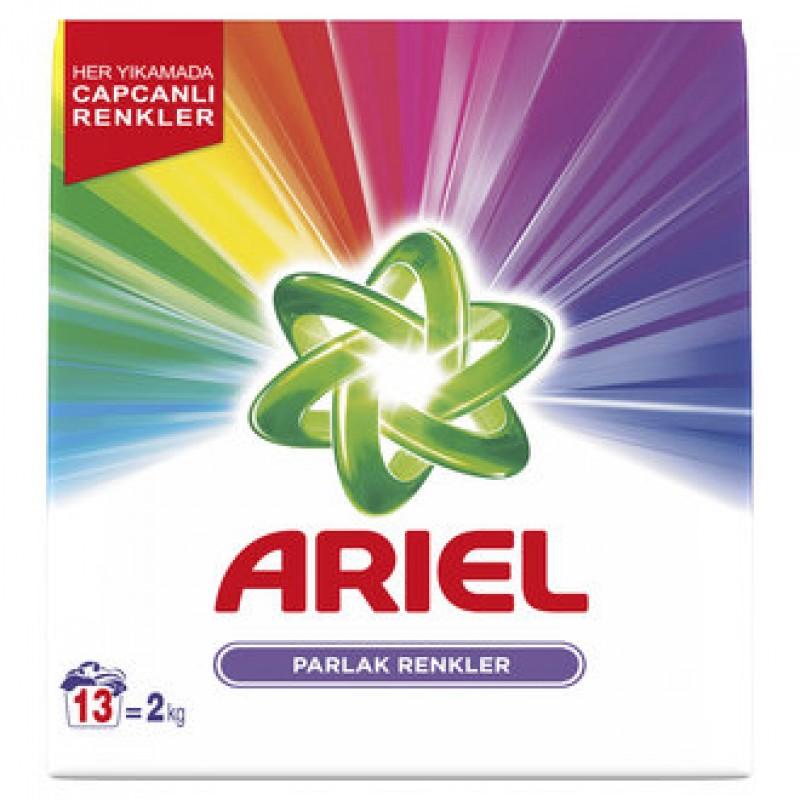 Ariel 13 Yıkama Toz Çamaşır Deterjanı Parlak Renkler 2 Kg